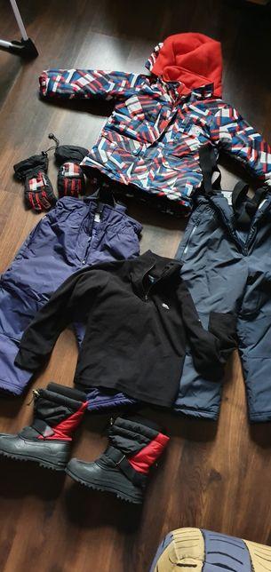 Kombinezon narciarski 5/6 lat, buty, rękawiczki,polar