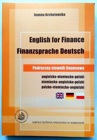 Podręczny Słownik Finansowy Angielsko-Niemiecko-Polski