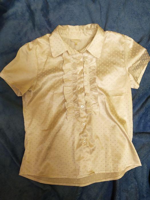 Женская белая рубашка с коротким рукавом Сумы - изображение 1