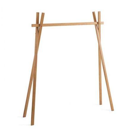 Cabide de madeira cruzado