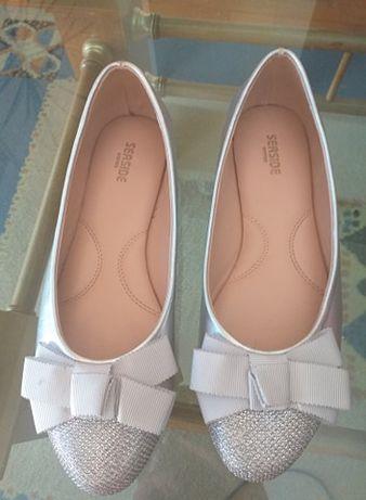 Sapatos cinza nº 35, como novos