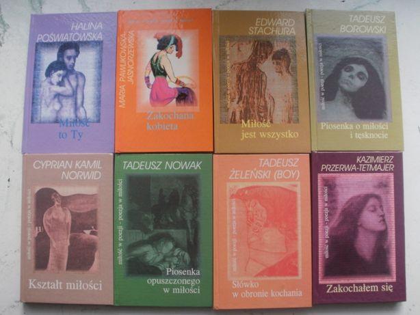 Tomiki wierszy z serii ,,Miłość w poezji - poezja w miłości''