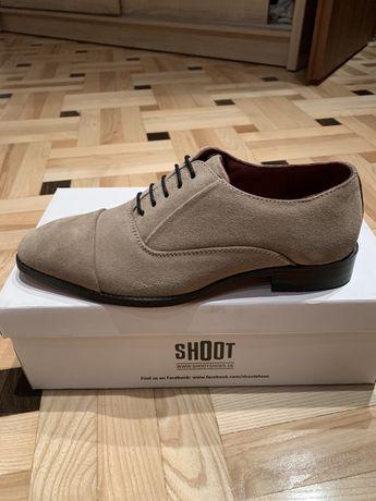 Nowe buty Shoot skóra zamszowa eleganckie