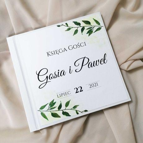 Piękna księga gości na wesele - zieleń MAGGIE