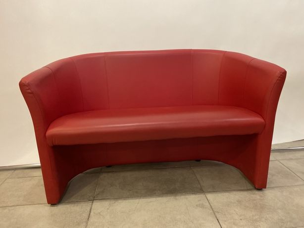 Sofa czerwona 2-osobowa