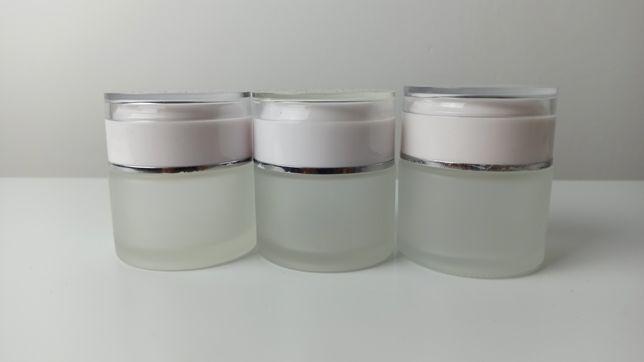 Баночка стекло матовое 50 мл 3 шт   30 мл 6 шт - для крема, косметики