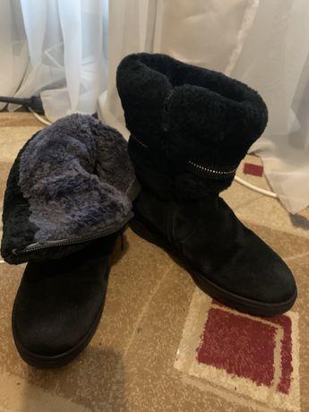 Ботинки на овчине