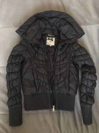 Весенняя чёрная куртка на девочку р.S (158-164)