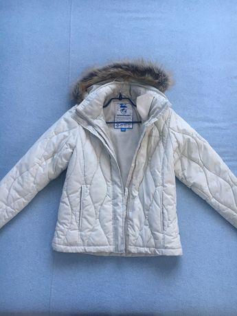 Белая куртка пуховик D2B, размер XS