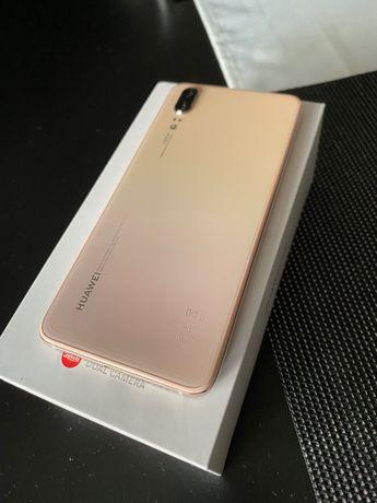 Huawei P20 128GB pink gold ideał + etui