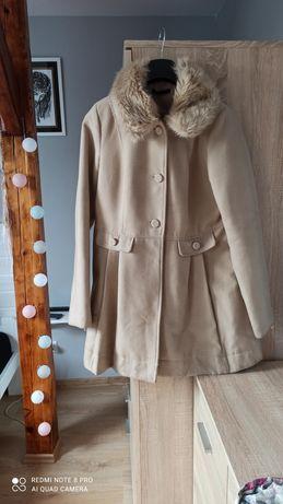 Płaszczyk damski zimowy mohito 42 futerko XL