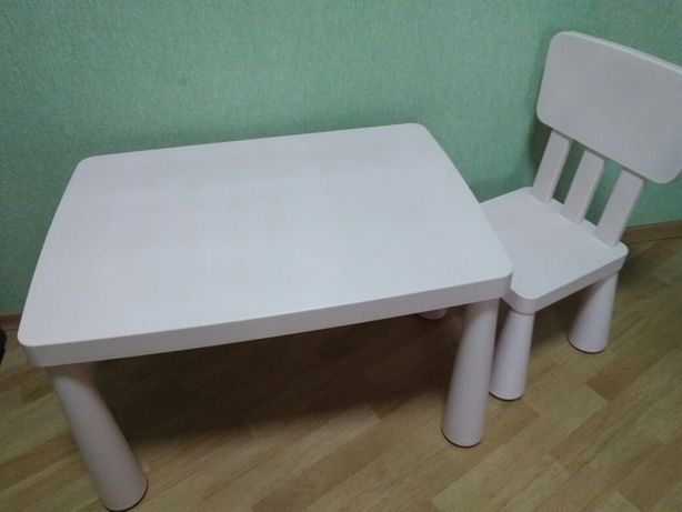 Детский стол, стул Икеа