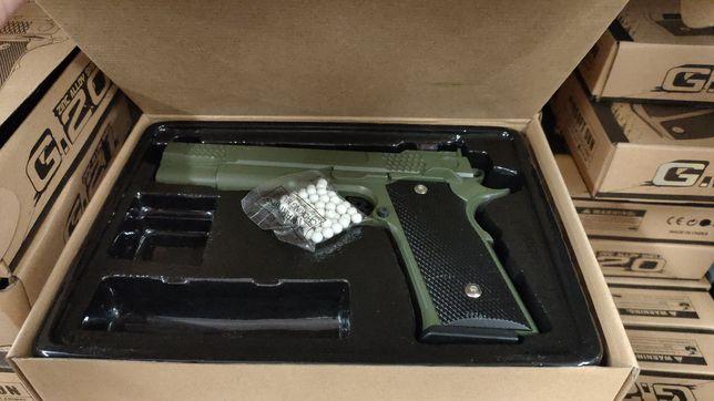 Страйкболыный металлический пневматический пистолет ZM01//G.26 детский