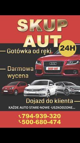 Skup aut skup samochodów każde auto autokasacja calodobowo