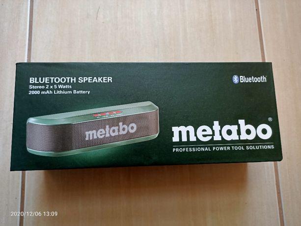 Głośnik bezprzewodowy bluetooth Metabo 2,0ah 2x5W Aux