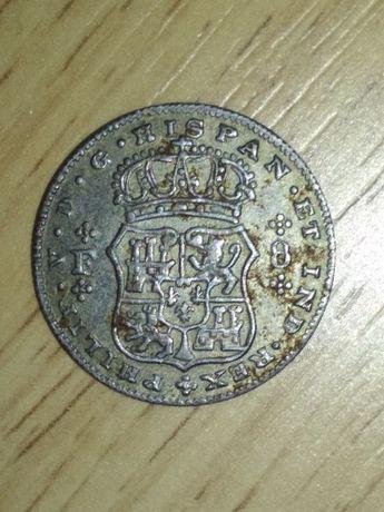 hispan. et. ind .rex. Philip V.D.G 1732