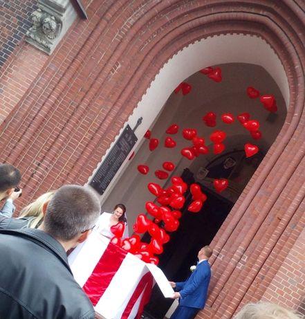 Balonowy prezent Pudło z balonami Balony z helem Ślub Wesele Balon LED