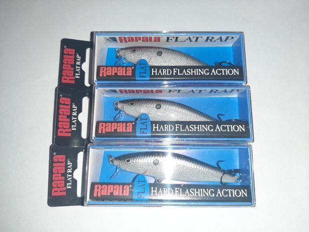 Wobler Rapala Flat Rap 8 Silver na Salmo Salmon