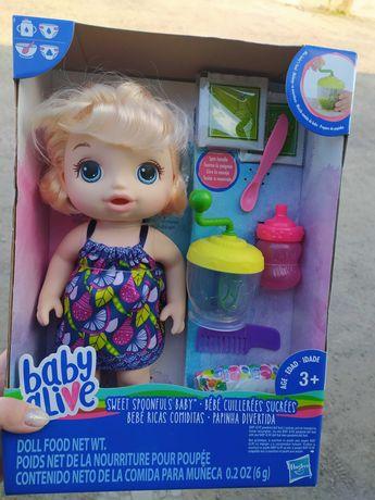 Кукла 30 см Baby Alive Sweet Spoonfuls Blonde Baby Doll Girl