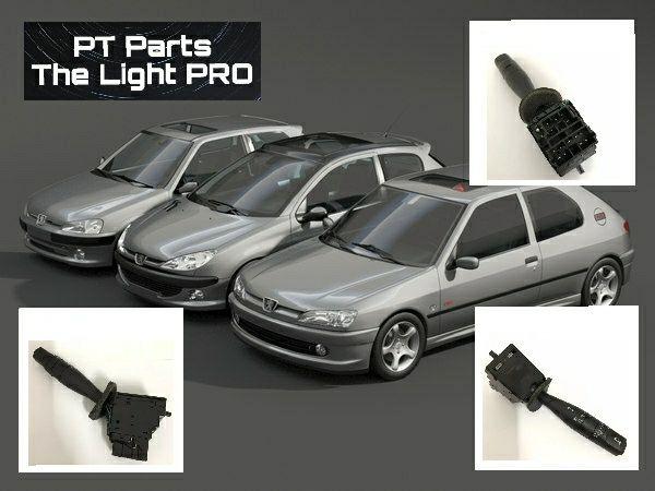 Manete switch interruptor comutador luz pisca e buzina Peugeot Citroën
