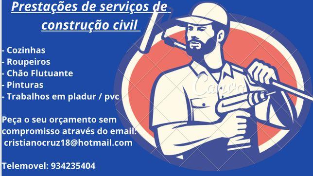 Faço prestacões de serviços construção civil