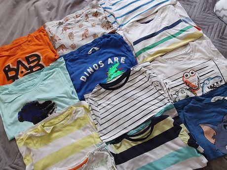 Markowe t-shirty dla chłopca 122-128 bdb