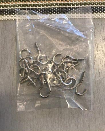 Крючок Винтовой Металлический Вешалка для Ключницы Гачок