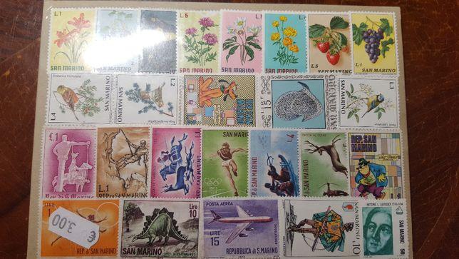 Znaczki pocztowe w pakietach