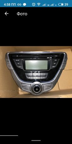 Продам штатную магнитолу Hyundai Elantra 2011-2014