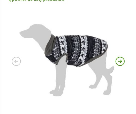 Sweterek, ubranko dla psa z norweskim wzorem