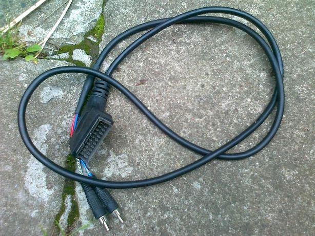 kabel przewód euro cinch