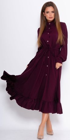Плаття довге Issa Plus платье длинное на пуговицах рубашка L-XL софт