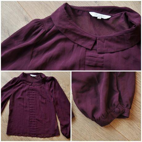 Bluzka bordowa mgiełka elegancka 36