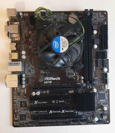 Płyta główna ASRock H81M  , Procesor Core i5-4460S