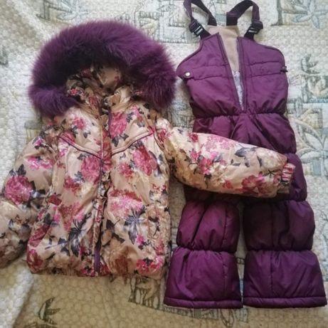 Продам утепленный комплект для девочки 2-3 лет