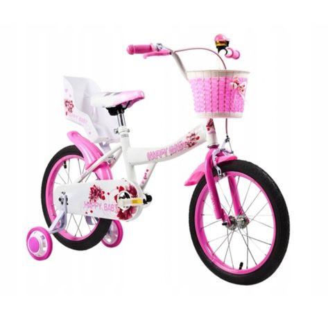 Rower Rowerek 20 cali dla dziewczynek , koszyk, fotelik dla lalek