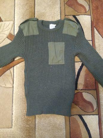sweter wojskowy / moro / zielony gruby