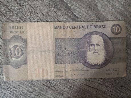 Nota dez cruzeiros - banco brasil