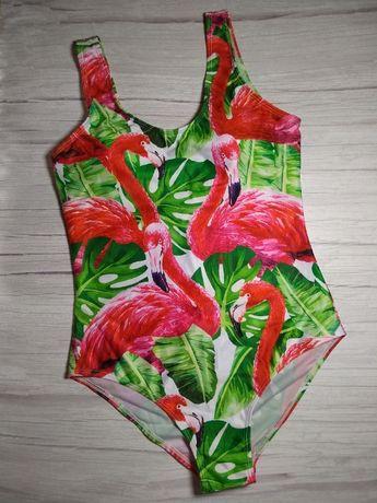Сдельный купальник с фламинго