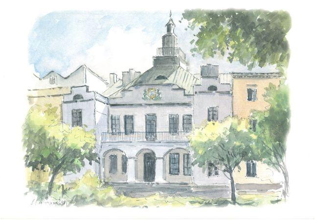 Obraz Lublin , autor A.Orłowski , wym. 26x23 cm.