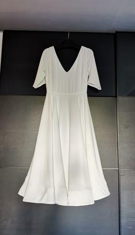 Suknia ślubna krótka, rozkloszowana rozmiar M