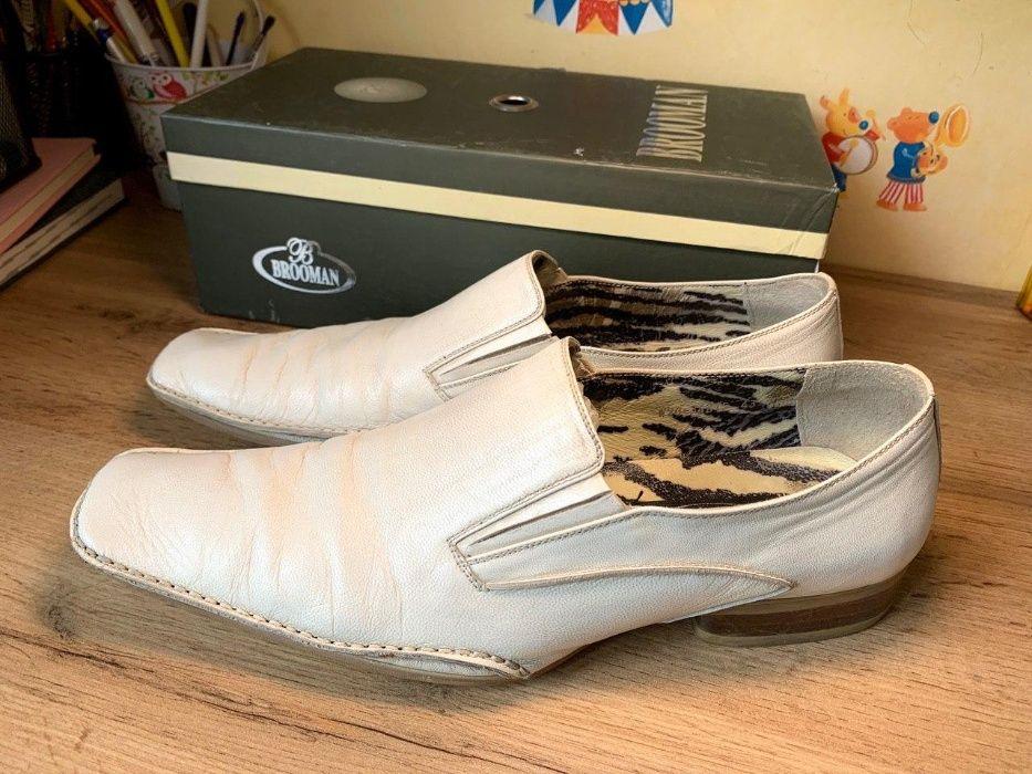 Кожаные мужские туфли р.44 Одесса - изображение 1
