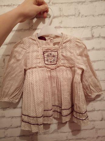 Mamas Papas 86 Zara koszula bluzka styl Newbie z falbankami święta