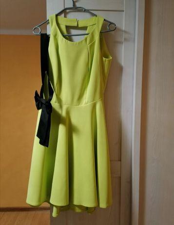 Sukienka kolor limonkowy