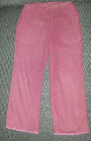 Ciepłe polarkowe spodnie dla dziewczynki r. 104