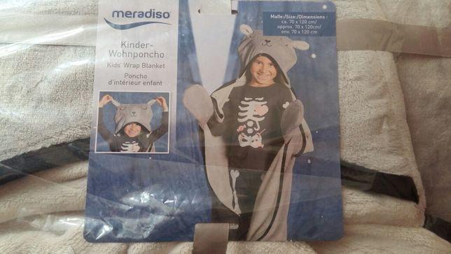 Модный аксессуар -детское пончо, накидка, халат, плед Meradiso. 70х120