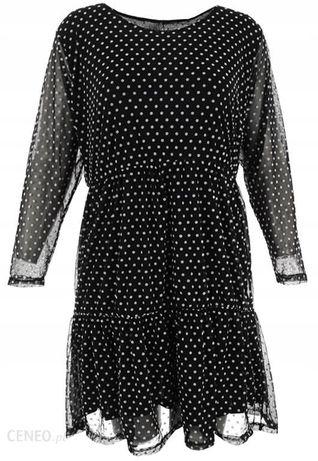 Sukienka szmizjerka w kropki roz 50
