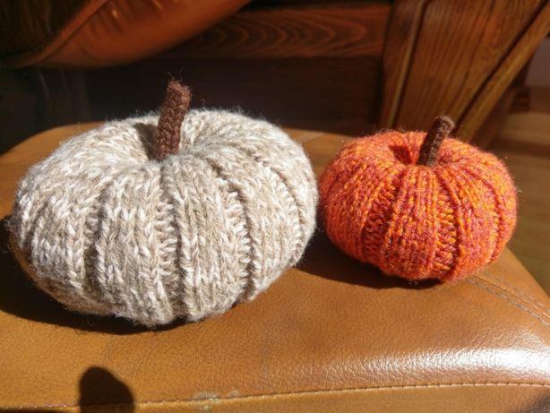 dynia na drutach zabawka dekoracja jesień Halloween rękodzieło