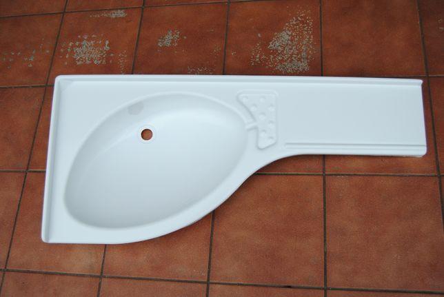 Kamper przyczepa umywalka narożna przedłużana 84 x 37cm.