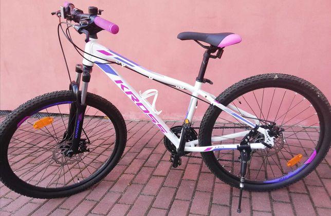 Rower damski KROSS Lea 3.0 biało-różowy